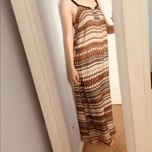 Patterned low back sundress
